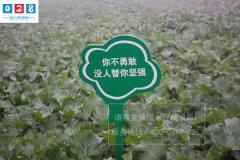 草坪温馨提示牌制作